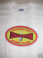 CHAMPION SPARK PLUGS HOT ROD T SHIRT