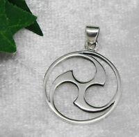 Mitsu Domoe - asiatisches Amulett - Anhänger 925 Silber Triskele