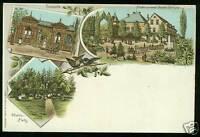 Kreischa, Farb-Litho mit Etablissement Blasche, um 1900