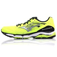 Mizuno Men's Wave Inspire 12 Running Shoe: Safety Yellow/Silver/Black