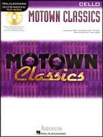 Motown Classics Cello Instrumental Play-Along Sheet Music Book with CD