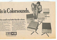 COLORSOUNDS ITT KB RECORD PLAYER press clipping 1968