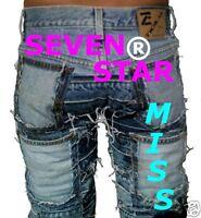 Vintage Beach Club Denim Hüft Jeans SEVEN STAR MISS g.24 25 26 27 28 29 30 31 32
