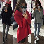 Womens Winter Long Sleeve Loose Pullover Hoodie Jacket Sweater Coat Jumper Tops