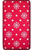 Festive Christmas Xmas Red White Snowflake Snow Rug Home Decoration Floor Mat
