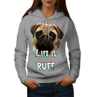 Pug Dog Face Look Women Hoodie S-2XL NEW | Wellcoda