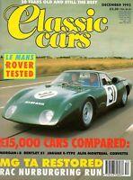 Classic Car Magazine Dec 1993 Le Mans Rover,MG TA,Alfa
