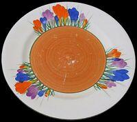 Attractive Clarice Cliff Bizarre Autumn Crocus Flowers Plate - Art Deco