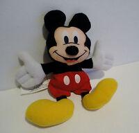 "Vtg Disney MICKEY MOUSE PLUSH DOLL  7"" Applause Stuffed Animal Bean Bag Toy EVC"