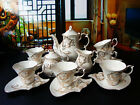 """15 Piece"" Bone European Overglaze Gold Gifts Coffee Tea Set Teaset"