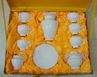 """15 Piece"" Bone European Overglaze Gold Line Gifts Coffee Tea Set Teaset"