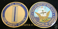 US NAVY CHIEF WARRANT OFFICER 5 CHALLENGE COIN USN CWO5 VETERAN GIFT WOW USS