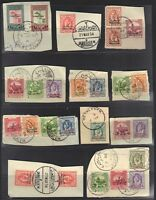 JORDAN-PALESTINE 1949 SPECIALIZED COLLECTION OF 16 FULL CANCELS BETHLEHEM NABLUS