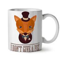 I don't give a fox Funny NEW White Tea Coffee Mug 11 oz | Wellcoda