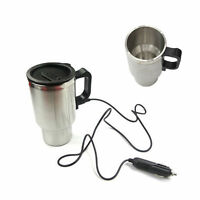 Heated 12V 450ml Stainless Steel Travel Cup Coffee Tea Car Plug Charger Cup Mug