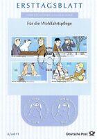 BRD 2011: Loriot-Motive! Ersttagsblatt der Wohlfahrtmarken Nr. 2836-2839! 1704