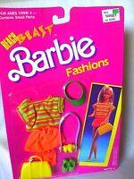 VINTAGE 1989 BEACH BLAST FASHIONS OUTFIT BARBIE DOLL NEW NRFB