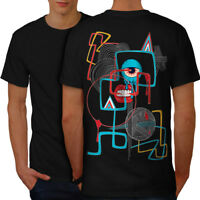 Wellcoda Geometrical Eye Fashion Mens T-shirt, Funny Graphic Design on the Back