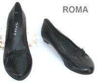 ROMA - CHAUSSURES BALLERINES CUIR NOIR 37 - NEUVES