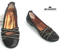 JB MARTIN - CHAUSSURES BALLERINES CUIR CHOCOLAT 36 - TRES BON ETAT