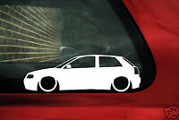 2x LOW Audi S3 / A3 (8l) TDI / 1.8t silhouette outline stickers, Decals