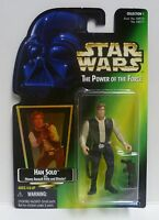 1996 Star Wars Power of the Force Han Solo Green Carded Figure POTF 2 MOC & RARE