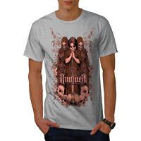 Wellcoda Damned Saint Horror Mens T-shirt, Horror Graphic Design Printed Tee