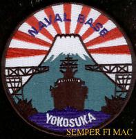 US NAVAL BASE YOKOSUKA JAPAN US NAVY PATCH USS SHIP PIN UP PORT FMF MARINES WOW