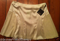 NWT SEAN BY SEAN COMBS CREAM SILK SKIRT  -SIZE 10