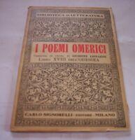 I POMEI HOMER buch XVIII Odyssee 1945 Signorelli ed. Buch