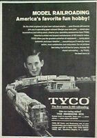 1969 Tyco Santa Fe Electric Train Model RR HO Scale Kids Toy Railroad Promo Ad