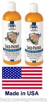 2-Top Performance De-Shed DOG CAT Shampoo*REDUCES SHEDDING*Concentrate=2+Gallon