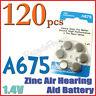 120 A675 PR44 675A 1.4V Zinc Air Hearing Aid Battery S