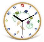 Modern Mute Wooden Frame 32*32*4.5CM Living Room/Bedroom Children Wall Clock E34