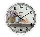 Mediterranean Quartz Mute Living Room/Bedroom/Study 14-inch Wall Clock ZR-201