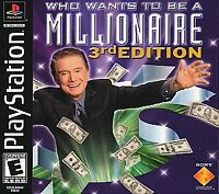 Who Wants to Be a Millionaire: 3rd Edition (Sony PlayStation 1, 2001) GOOD