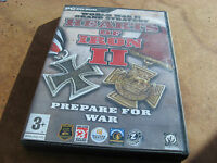 "PC HEARTS OF IRON II""PREPARE FOR WAR"" SECONDHAND WINDOWS 98/ME/2000/XP."