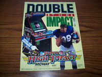 MIDWAY SUPER HIGH IMPACT VIDEO ARCADE GAME FLYER 1991