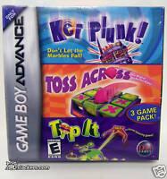Kerplunk / Toss Across / Tip It (Game Boy Advance) NEW!
