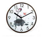Fashion Mute Brown Frame Wooden 32*32*4.5 CM Living Room/Bedroom Wall Clock E42