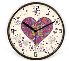 Fashion Mute Brown Frame Wooden 32*32*4.5 CM Living Room/Bedroom Wall Clock E16