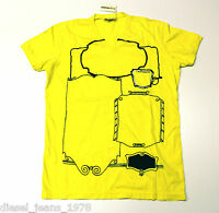 BNWT DIESEL T-STEEL T-SHIRT SZ XL V-NECK 100% AUTHENTIC YELLOW