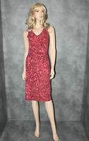 DNA Pink Black Evening Dress Size S Small uk 10 Ladies Animal Wiggle Party Frock