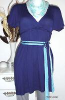 ♥ ESPRIT ♥ edc Tunika Long Shirt Easy - XS 34, dress blau dinner NEU