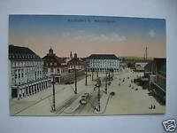 AK Karlsruhe i. B. 1916 Bahnhofsplatz Feldpost Straßenb