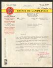 "LANDRECIES (59) USINE FONDERIE / MACHINES AGRICOLES ""RENSON & Cie"" en 1967"