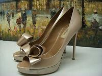 Valentino Couture Bow Platform Pump Shoes Size 39 $745