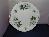 PARAGON CANADIAN PROVINCIAL FLOWERS SERIES TRILLIUM BREAD & BUTTER/CAKE PLATE.