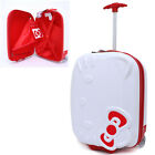 """Hello Kitty Rolling Luggage ASB Trolley Bag Hard Suit Case :Silver Face Bow 18"""""""