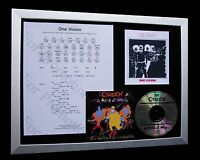 QUEEN One Vision LIMITED CD MUSIC FRAMED DISPLAY+EXPRESS GLOBAL SHIPPING+MERCURY